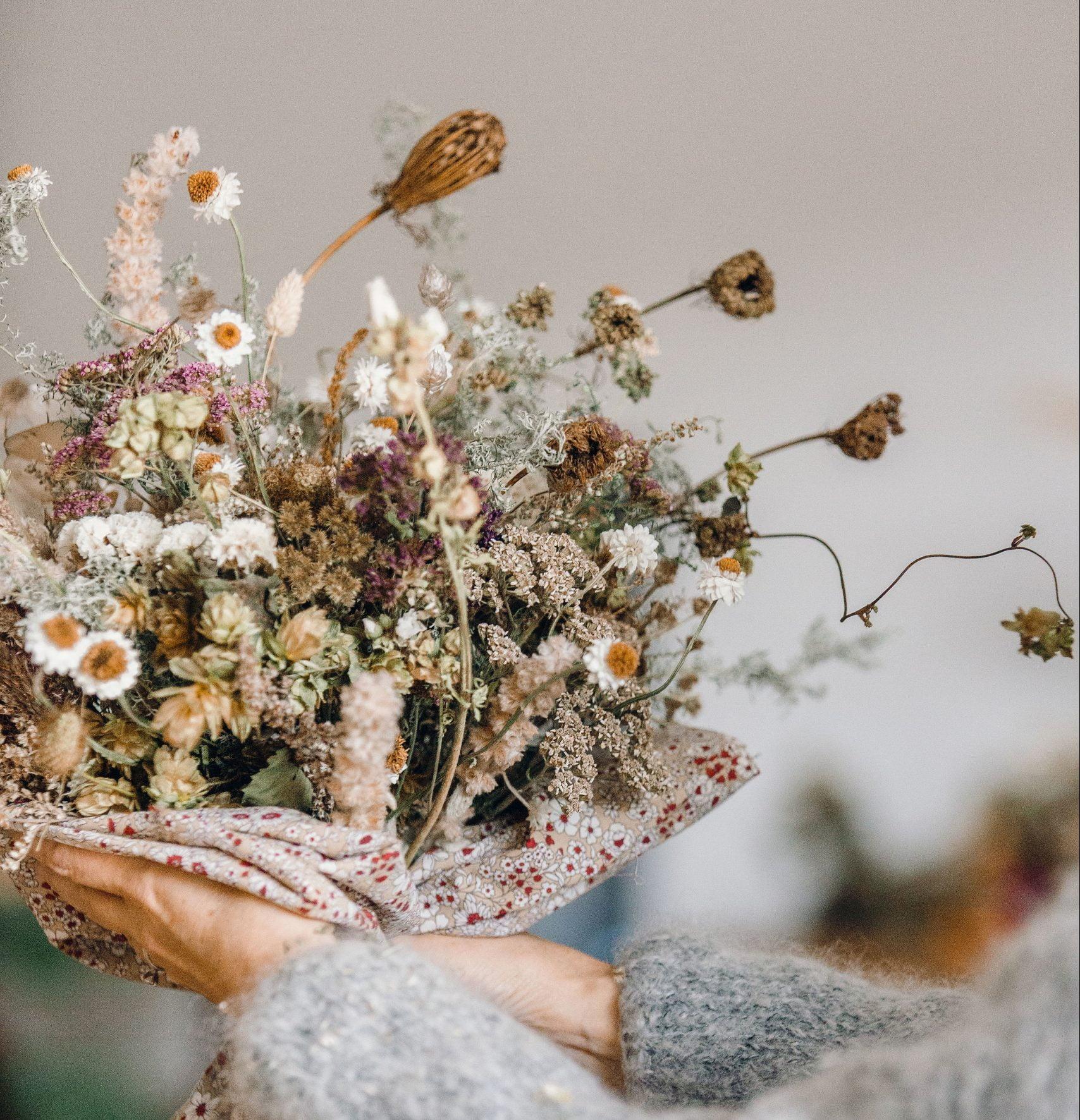 Everlasting British Flower Bouquet